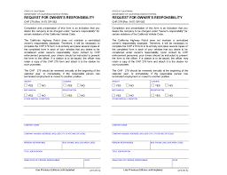 owner responsibility form owners responsibility form