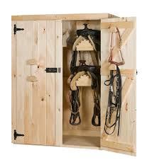 double door cabinet with saddle racks shelves cdsws