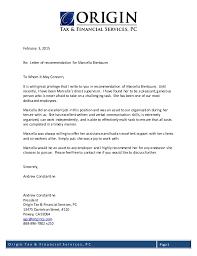 Letter Of Origin Letter Of Recommendation President Of Origin