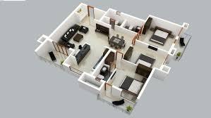 buat testing doang 3d modern floor house plan
