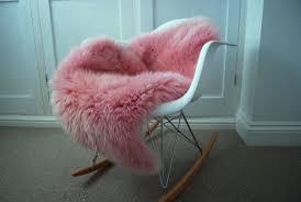 pink sheepskin rug nz