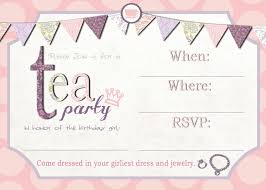 Tea Party Invitations Free Template Free Printable Tea Party Invitation Template In 2019 Tea