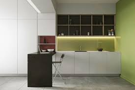 Faucets Minimalist White Kitchen Cabinets Sage Green Wall Single