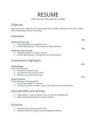 First Time Job First Time Job Resume Template First Time Job Resume Template