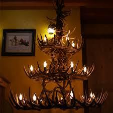 three tier whitetail deer antler chandelier