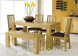 Kitchen Table With Bench And Chairs Pretty Rectangle Kitchen Oak Table Bench