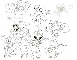 Luigi Mansion 2 Coloring Pages