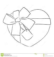 Heart And Ribbon Designs Drawing Heart With Big Ribbon Bow And Tag Stock Vector