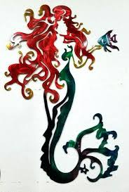 mermaid wall art australia outdoor metal decor urban outfitters