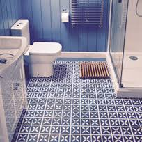 vinyl bathroom flooring. Blue Patterned Floor Tile Design Cornflower Vinyl Flooring In A Bathroom