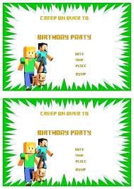 Minecraft Free Printables Free Printable Birthday Party