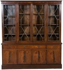 antique glass bookcase wooden bookshelf with doors bookshelves billy leaded barrister bookca