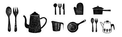 キッチン用品台所用品の豪華なイラスト素材商用無料png Design