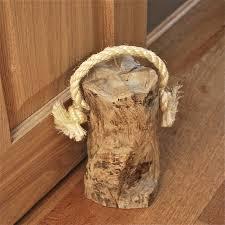 chunky and heavy wooden door stop