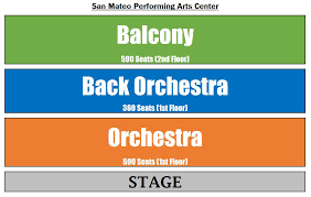San Mateo Pac Seating Chart Performing Arts Management