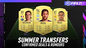 FIFA 21 NEW CONFIRMED SUMMER TRANSFERS & RUMOURS! w/ MESSI, THIAGO,  GRIEZMANN & MORE! - YouTube