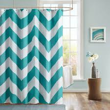 Brown And Teal Chevron Shower Curtain Shower Curtains Ideas