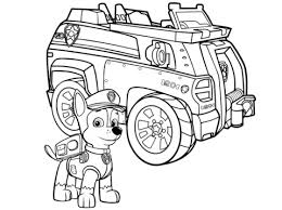 Police Car Coloring Pages Bl5t Paw Patrol Chase Police Car Coloring