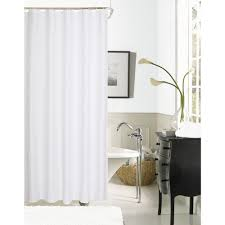 hotel collection waffle 72 in white shower curtain