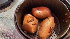 air fryer baked sweet potatoes recipe
