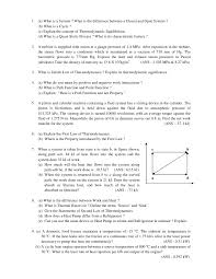 thermodynamics assignment thermodynamics assignment 1 a what is a system what is the difference between a
