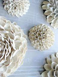 ceramic flower wall decor elegant polymer clay wall art by angela schwer