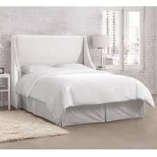 white velvet headboard. Plain White Skyline Furniture Velvet White Swoop Arm Wingback Headboard In R