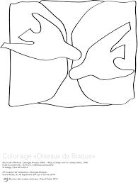 Coloriage L Oiseau Noir Et L Oiseau Blanc Rmn Grand Palais