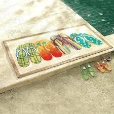 flip flop rug flip flop rug mat kitchen rugs material for cabana stripes patio recycled