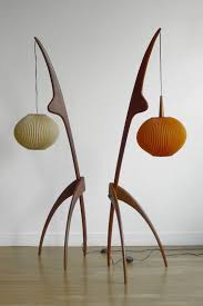 unique contemporary lighting. two modern floor lamps with unique shape contemporary lighting