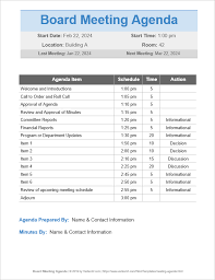 Agenda Outlines Templates 10 Free Meeting Agenda Templates Word And Google Docs