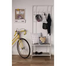 Overstock Coat Rack Mesmerizing Shop Thetford Free Standing Entryway Metal Coat Rack With Wood