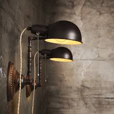 cool wall lighting. Cool Industrial Wall Sconce Light Vintage Black Lamps With Cable And String Controller Of Gray Lighting O