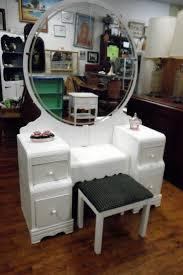 antique vanity set furniture. vintage art deco white waterfall vanity set @flea_pop antique furniture r