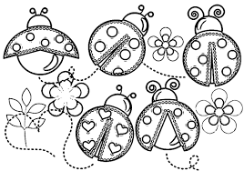 Lady Bug Coloring Sheet Pictures Of Ladybugs To Color Wallpapers Craft