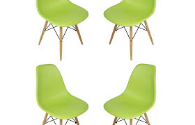 modern patio and furniture medium size green plastic chairs set of eames style dsw molded lime