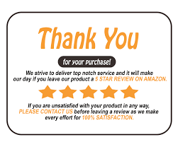 Design Package Insert Product Insert Amazon Thank You Card