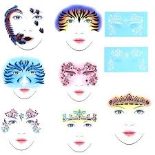 face paint templates set reusable face paint stencil painting tattoo template makeup reusable templates face paint