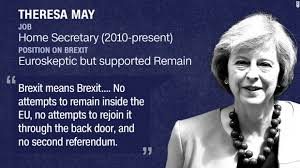 Image result for prime minister may brexit
