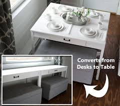 ana white flip up desks that convert to table for our tiny house