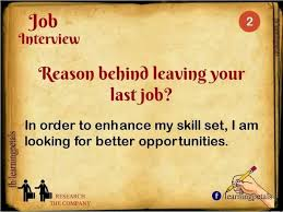 Last Interview Questions Reason For Leaving Last Job Job Interview Questions Job