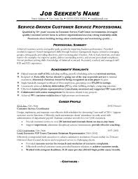 Resume Templates Customer Service Free Resume Templates Customer Service  Printable