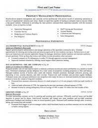 Sample Salesperson Resume Real Estate Property Management Resume Sample Professional Resume