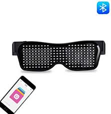 Hybad <b>LED</b> Bluetooth <b>Glasses</b> Party, Women's Men's Luminous ...