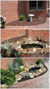 diy garden waterfalls ideas tutorials including this diy waterfall pond project from oh my creative