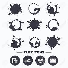 pool splash vector. Vector. Paint, Coffee Or Milk Splash Blots. Swimming Pool Icons. Shower Water Drops And Vector