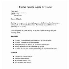 Sample Resume Pdf Magnificent Curriculum Vitae Samples Pdf For Teachers Awesome Teacher Resume