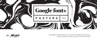 Fonts Posters Google Fonts Typography Posters On Behance