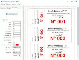 formato boletos rifa programa numerador para imprentas custombit gracioso pinterest