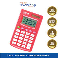 Canon Ls 270vii Re 8 Digits Pocket Calculator Red